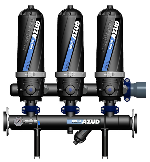 Azud HF 203 Helix фильтр грубой очистки дисковый сетчатый грязевик